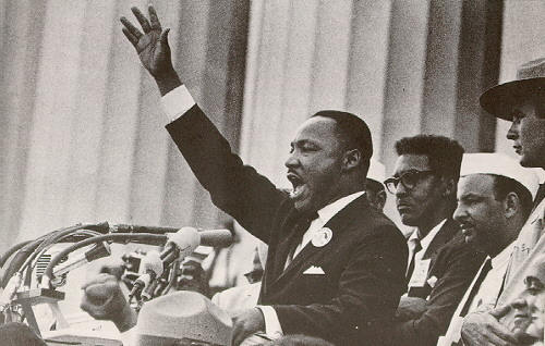 Martin Luther King Jr. giving the 'I have a dream' speech
