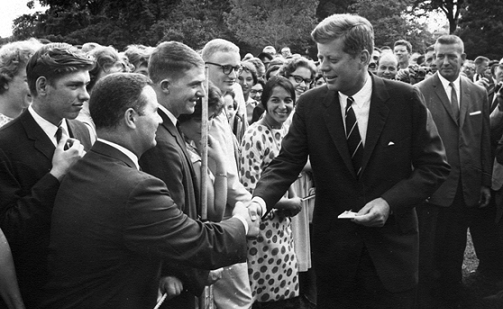 JFK Shaking Hands