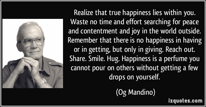 Og Mandino Quote Few Things Are Necessary To Make The: 5 Things To Stop Expecting From People Around You