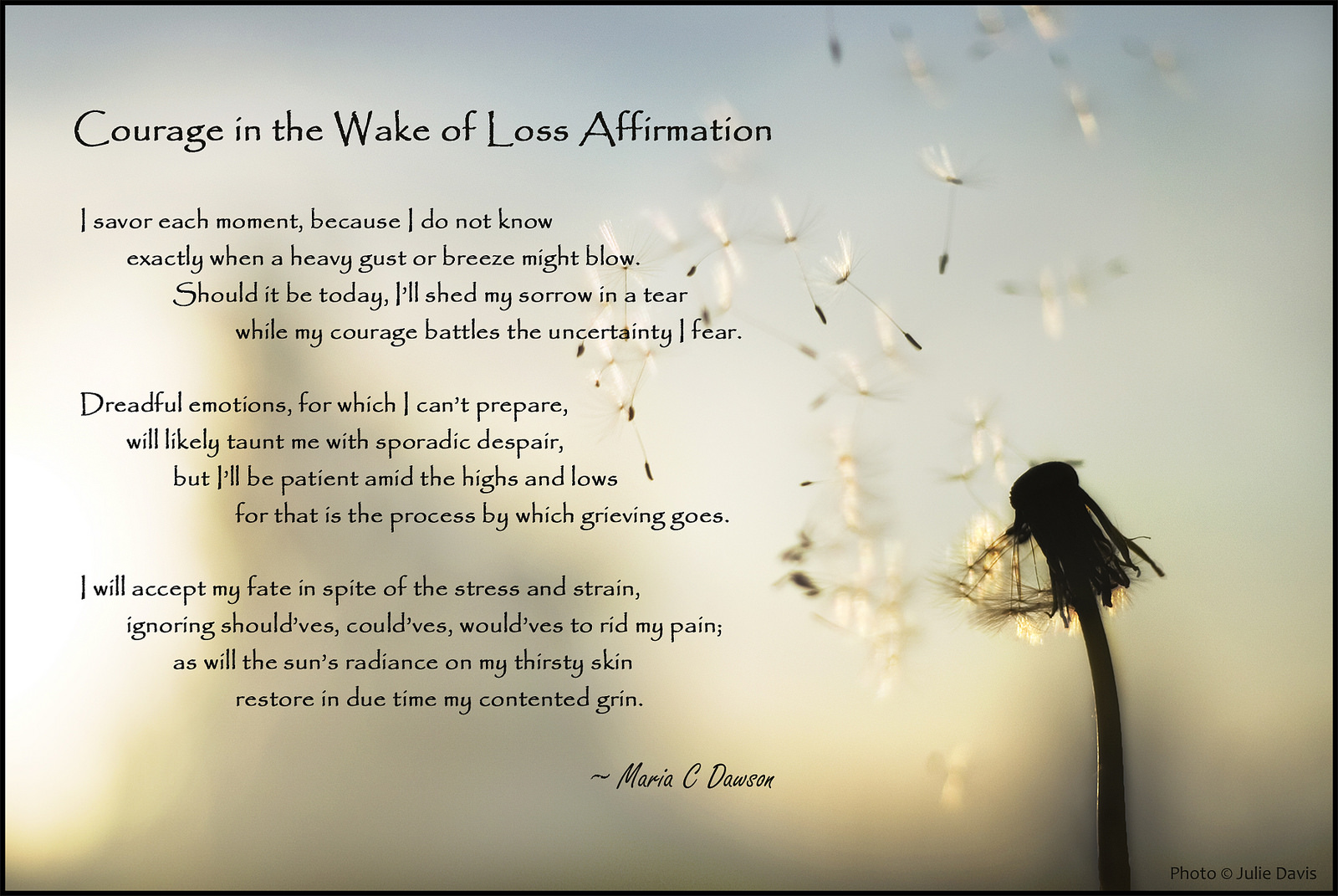 wake of loss affirmation