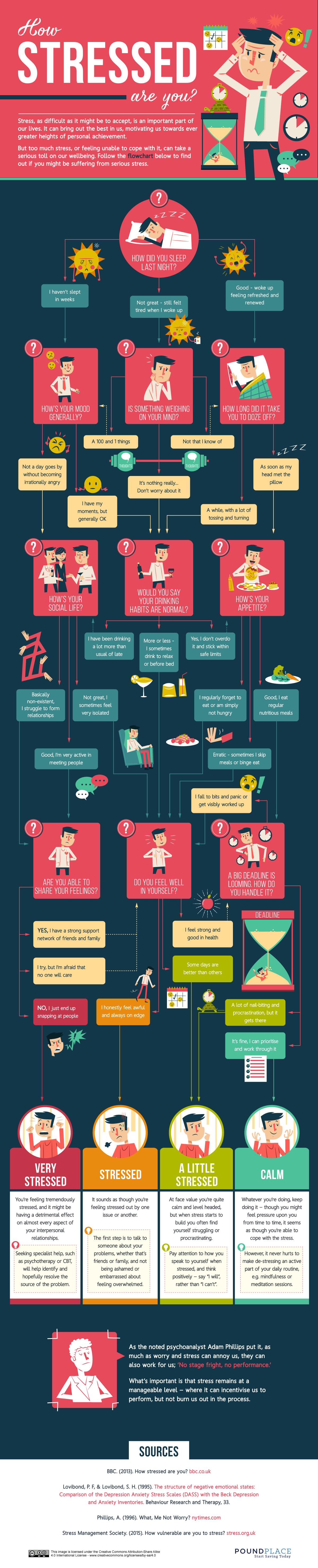 how stressed are you infographic