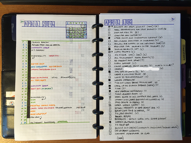 Monthly Log